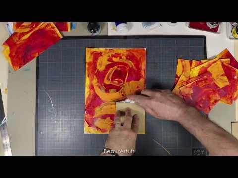 Découverte d'une technique de fond acrylique avec
