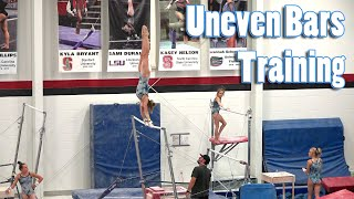 Uneven Bars Training | Whitney Bjerken Gymnastics