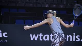 Maria Sharapova: back on court - Porsche Tennis Grand Prix 2017