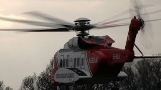 Irish Coast Guard Helicopter Patient Transfer at IMMA
