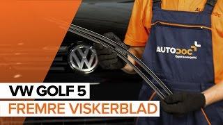 Montering Vindusviskere bak og foran VW GOLF V (1K1): gratis video