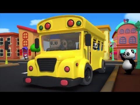 ล้อบนรถบัส | เด็กบ๊องสำหรับเด็ก | รถบัสเพลง | Nursery Rhymes Songs | The Wheels On The Bus Rhyme