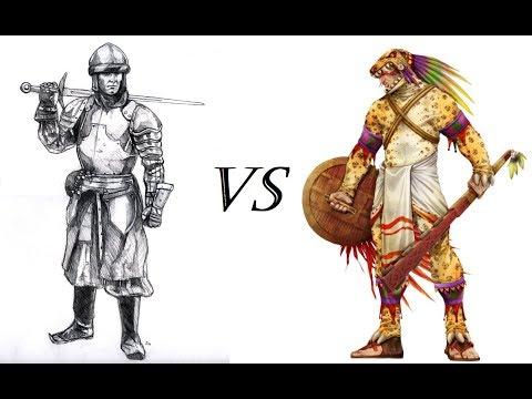 English Armoured Swordsmen vs Aztec Jaguar Warriors | Medieval 2 Total War | Versus S1E1