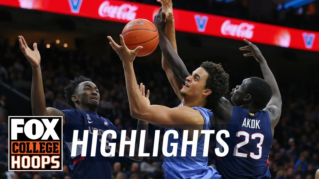 Villanova avoids upset, tops UConn 61-55 behind Samuels' big 2nd half  HIGHLIGHTS