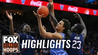 Villanova avoids upset, tops UConn 61-55 behind Samuels' big 2nd half | FOX COLLEGE HOOPS HIGHLIGHTS