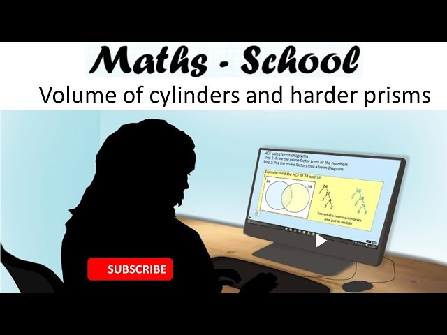 Volume of prisms, cylinders and harder problems for Maths GCSE (Maths - School)