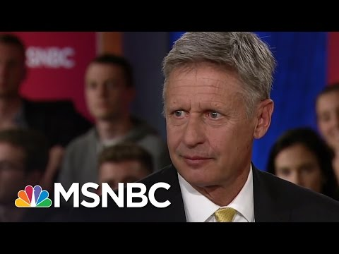 Gary Johnson: .I'm Having An Aleppo Moment. | Hardball | MSNBC MSNBC's Chris Matth