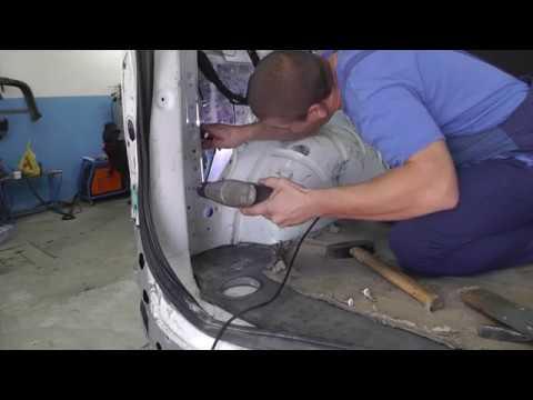 Volkswagen T5. Установка и регулировка  двери.