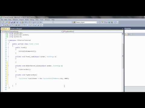 C# Tcp tutorial pt 1 - Server