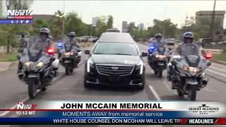 FNN: Body of Senator John McCain arrives in Maryland; President Trump Indiana Rally