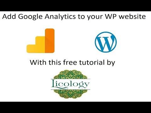 How to add Google Analytics to wordpress website