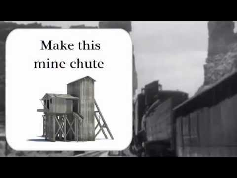 How to Make a Model Railroad Mining Town