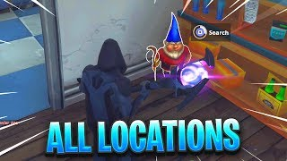 """""""Search Hungry Gnomes"""" ALL LOCATIONS in Fortnite"""