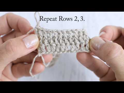 Front Post double crochet (FPdc), Back Post double crochet (BPdc) tutorial.