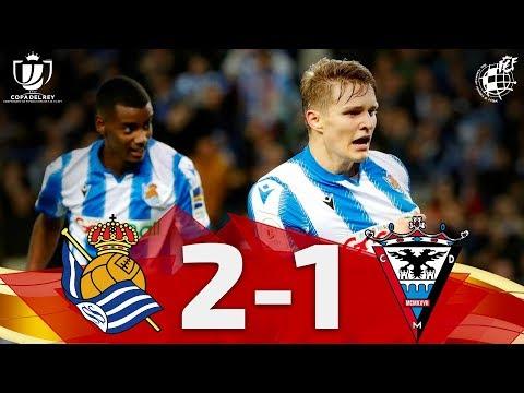 Copa Del Rey   Resumen   Real Sociedad 2 - CD Mirandés 1 (Semifinales - Partido De Ida)