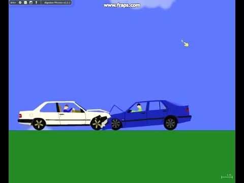 Saab Vs Volvo >> Algodoo Saab Vs Volvo Crash Youtube