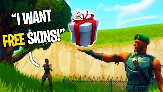 Gifting Free Skins to Random Duos (Fortnite: Battle Royale)