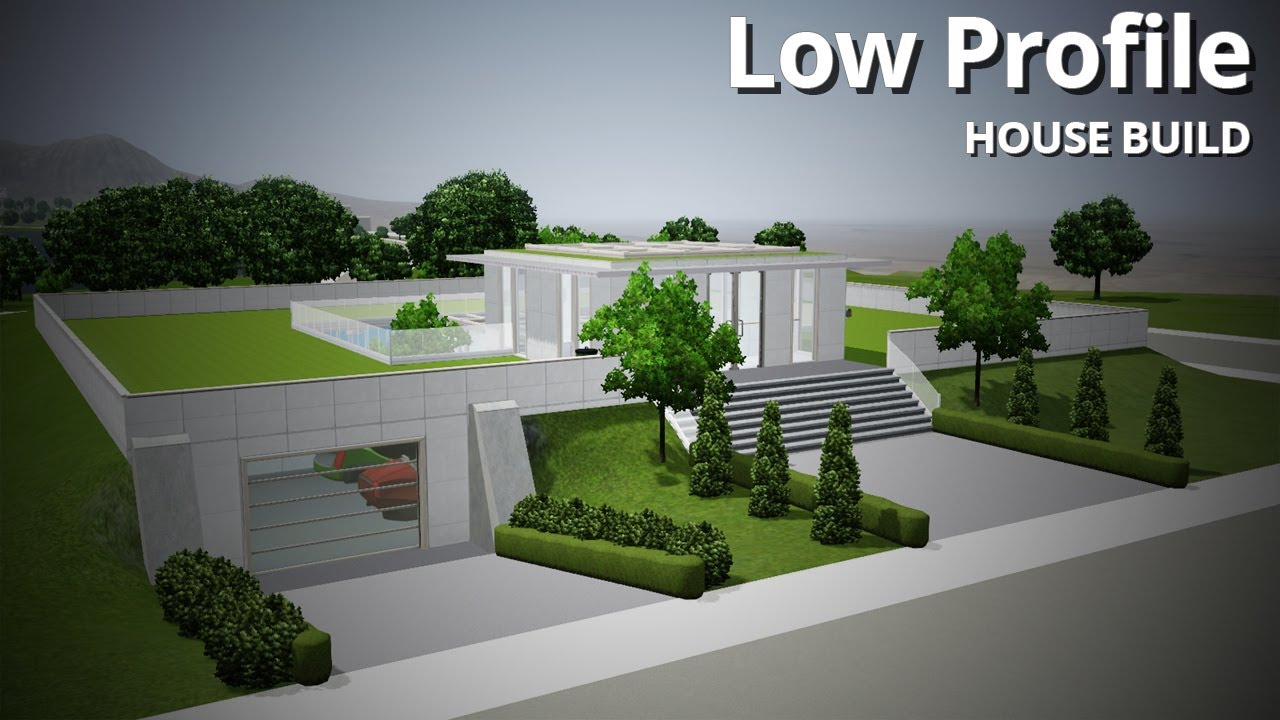 Futuristic House Inspiration The Sims 3 House Building  Low Profile Futuristic House  Youtube Inspiration