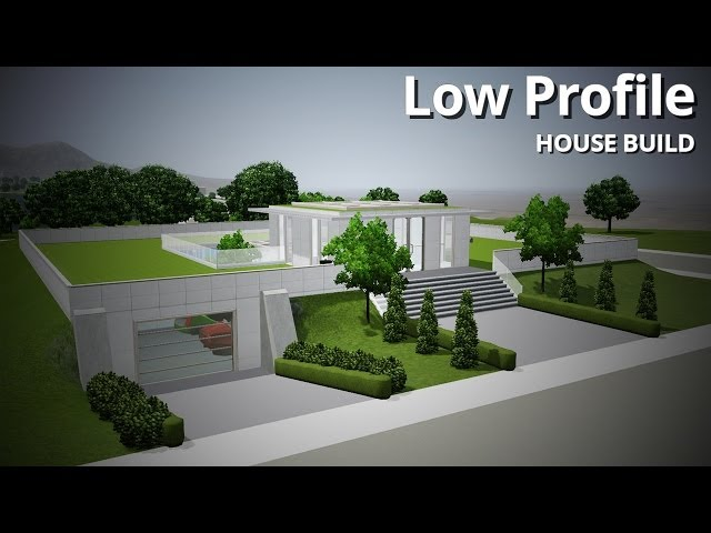 The Sims 3 House Building - Low Profile (Futuristic house)
