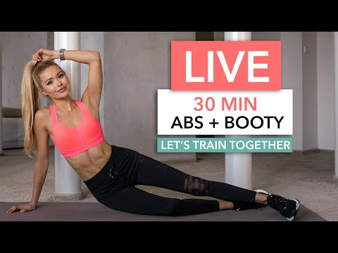 30 MIN ABS & BOOTY – Let's train together / No Equipment I Pamela Reif