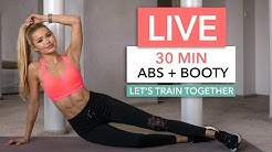 30 MIN ABS & BOOTY - Let's train together / No Equipment I Pamela Reif