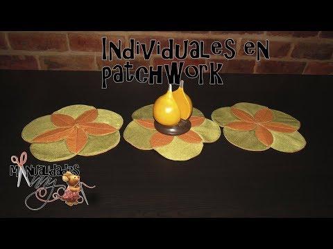 INDIVIDUALES EN PATCHWORK | Manualidades Anny