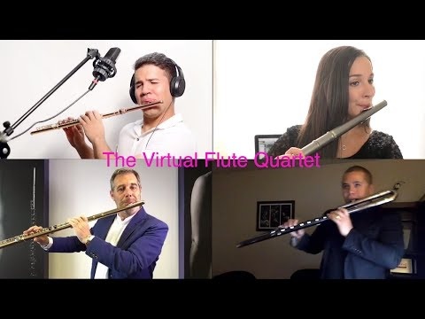 The Virtual Flute Quartet plays 'Hallelujah' by Leonard Cohen