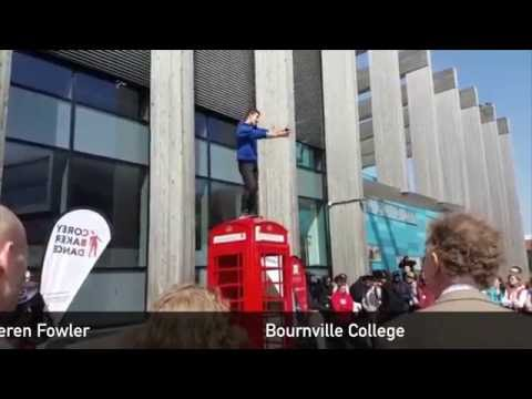 Phone Box dance performance at Bournville College