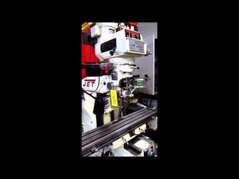 "11682 Jet JTM-4VS Vertical Mill, 9"" x 49"" Table www.vanderzielmachinery.com"