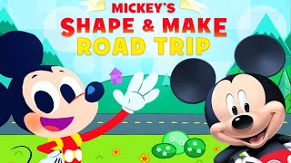 Mickey's Make And Shape Road Trip  Learn Shapes Educational Disney Junior Games