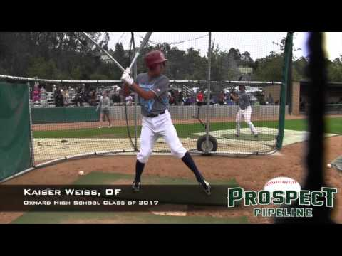 Kaiser Weiss Prospect Video, OF, Oxnard High School Class of 2017