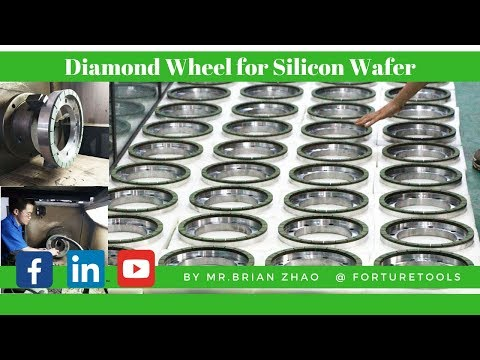 Resin bond diamond cup grinding wheel for silicon wafer