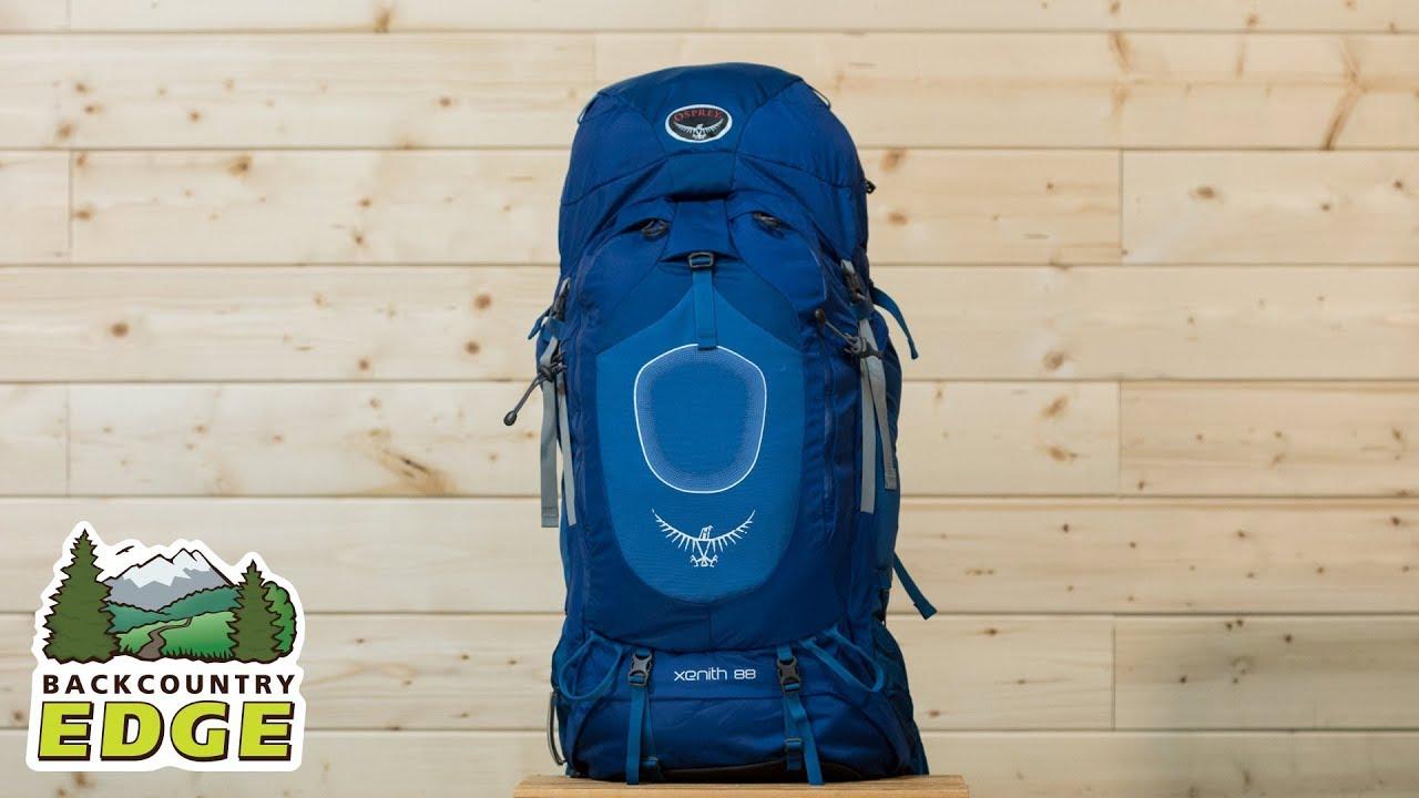 osprey xenith 88 internal frame backpack youtube