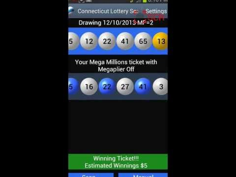 CONNECTICUT LOTTERY SCANNER Android App