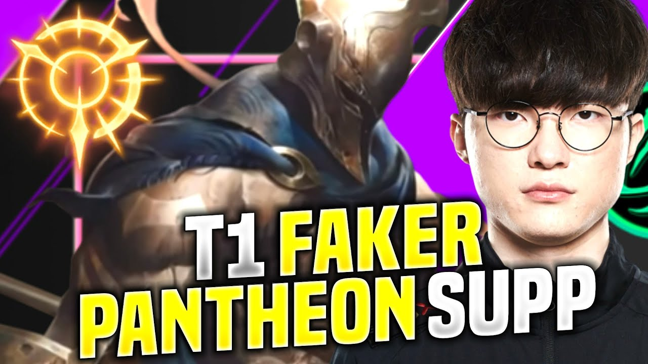 Faker Checks Out Pantheon Supp! - T1 Faker Plays Pantheon vs Bard Supp! | KR SoloQ Patch 10.15