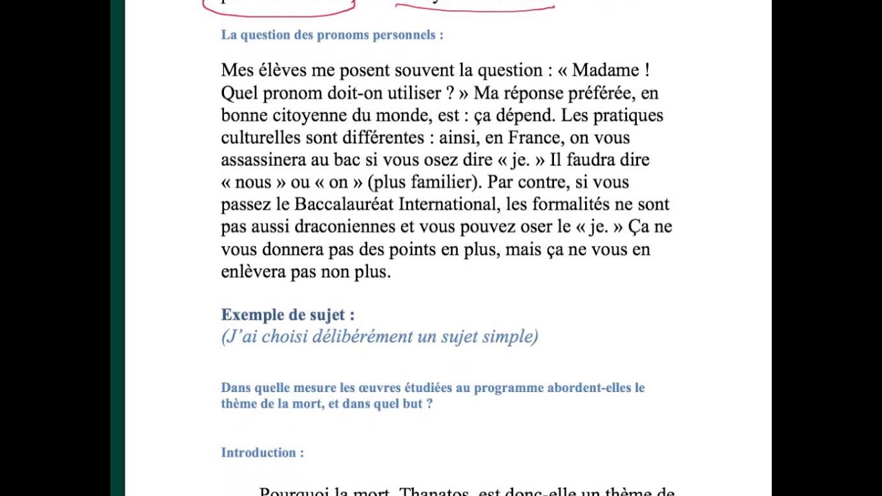 Comment introduire plan dissertation