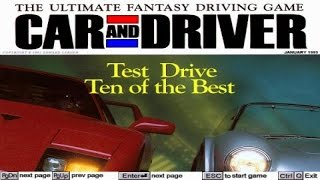 Car and Driver gameplay (PC Game, 1992)