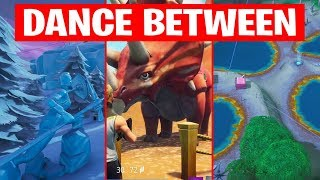 DANCE BETWEEN THREE ICE SCULPTURES, DINOSAURS, FOUR HOTSPRING LOCATIONS Fortnite Week 9 Challenges