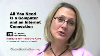 Palliative Care Training - Eight Week Online RN Certificate at CSU Institute for Palliative Care