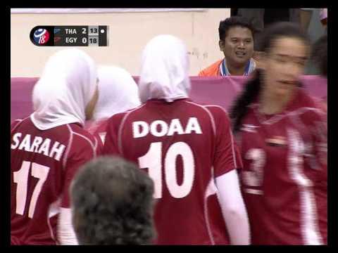 การแข่งขันวอลเลย์บอลยุวชนหญิงชิงแชมป์โลก ไทย พบกับ อียิปต์ เซ็ตที่ 3