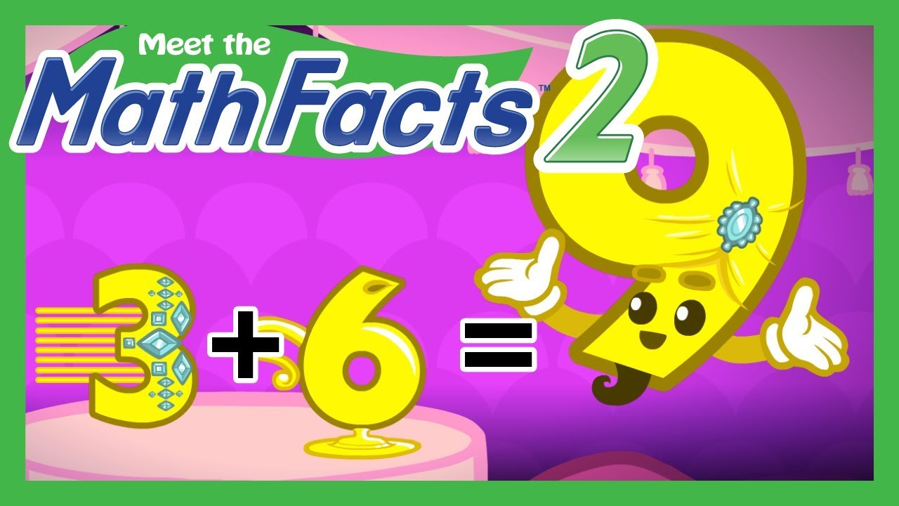 Meet the Math Facts Level 2 - 3+6=9 - YouTube