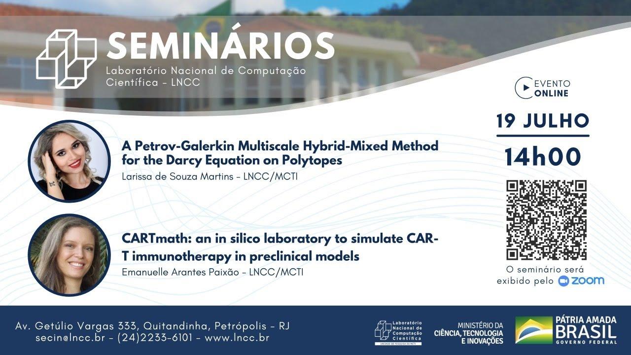 Download 19/07/2021 - Seminário LNCC - Larissa Martins e Emanuelle Paixão (LNCC/MCTI)