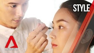 We got the celebrity makeup artist to interpret fall/winter 2018's bright eyeliner trend for office. they are perfect after-hours as well of course.