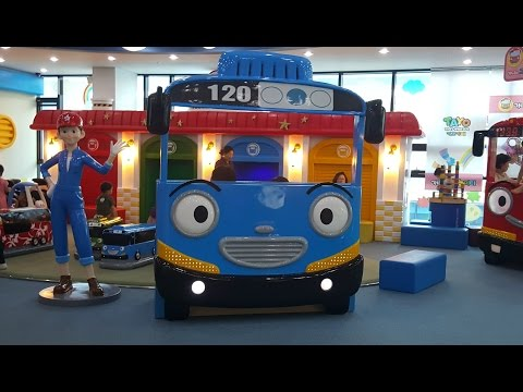 꼬마버스 타요 키즈 카페. 어린이 놀이터 테마파크. Tayo Bus Kids Playground Amusement Детская игровая комната Тайо