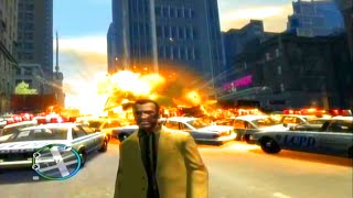 GTA 4 Largest Explosion Ever & Most Cop Cars Ever