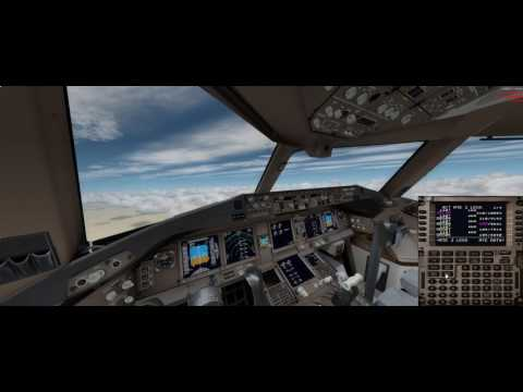 [P3D] OTBD Doha landing at OMDB Dubai - B777-200LR Qatar Airways