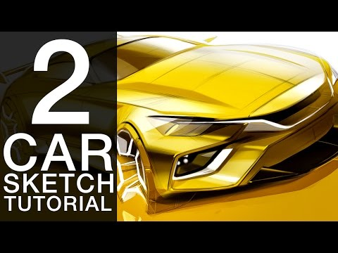How to Draw a Concept Car | Car Drawing and Sketching Tutorial