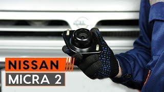 Hvordan bytte foran fjærbenslager på NISSAN MICRA 2 Hatchback [BRUKSANVISNING AUTODOC]