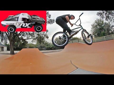 RC CAR VS. BACKYARD BMX PARK
