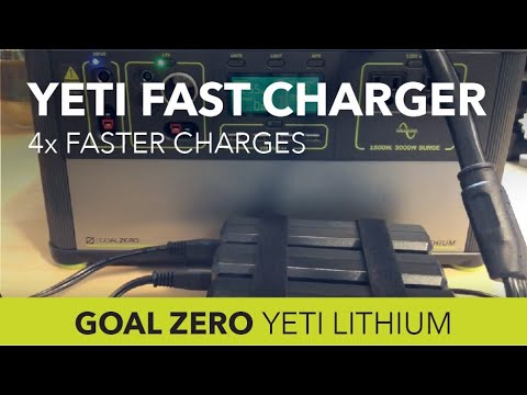 Goal Zero Yeti 1000 Lithium: Fast Charge In Just 4.5 Hours Instead of 18!